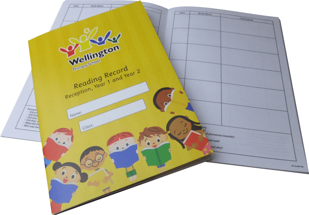 Fully customised reading record booklets