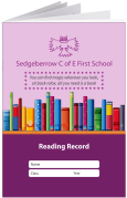 Custom School Reading Record Booklet Example R6
