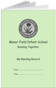 Custom School Reading Record Booklet Example R13