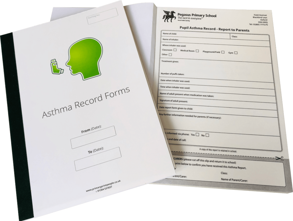 Asthma Record Forms Open