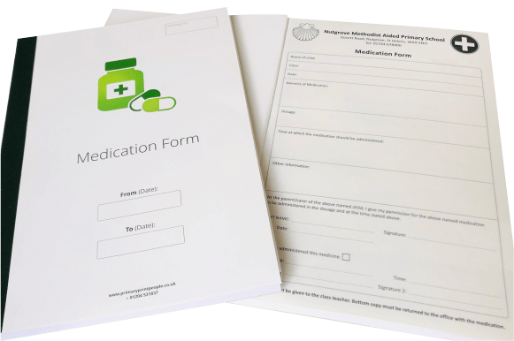 Customised Medication Forms - Educational printing for primary schools