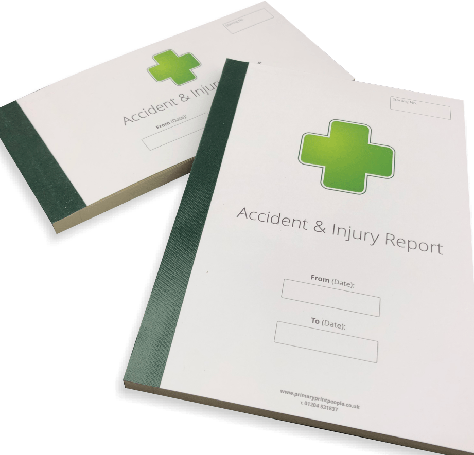A5 & DL Accident & Injury Form Books for Schools