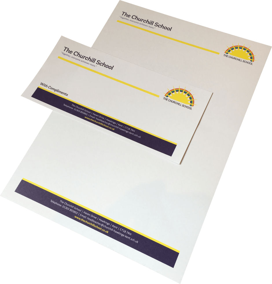 School Stationery, Letterheads, Compliments Slips