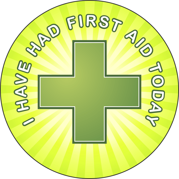 I have had first aid today school sticker