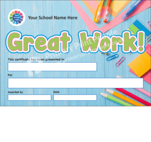 School Certificate - CTC30 - Personalised School Reward Certificates