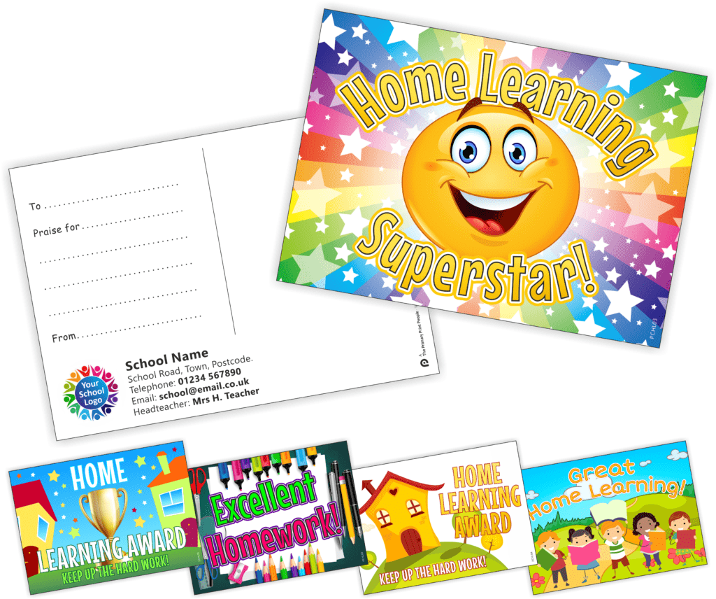 Home Learning Praise Postcards