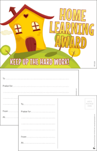 Home Learning Award! Postcard - PCHL04