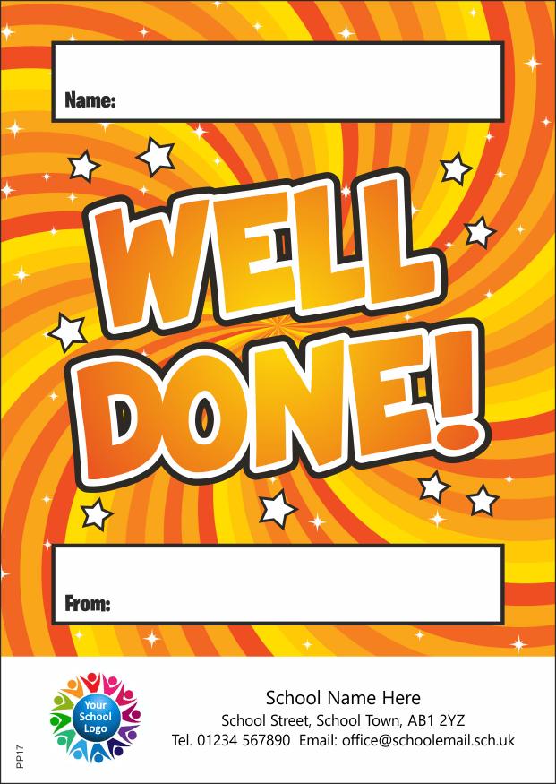 Well done reward - Praise Pad
